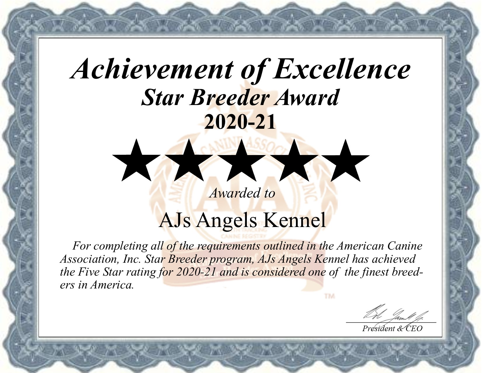 Aj's Angel, Kennels, dog, breeder, star, certificate, Aj's Angel-Kennels, Crushing, MN, Minnesota, puppy, dog, kennels, mill, puppymill, usda, 5-star, aca, ica, registered, yorkshire, terriers