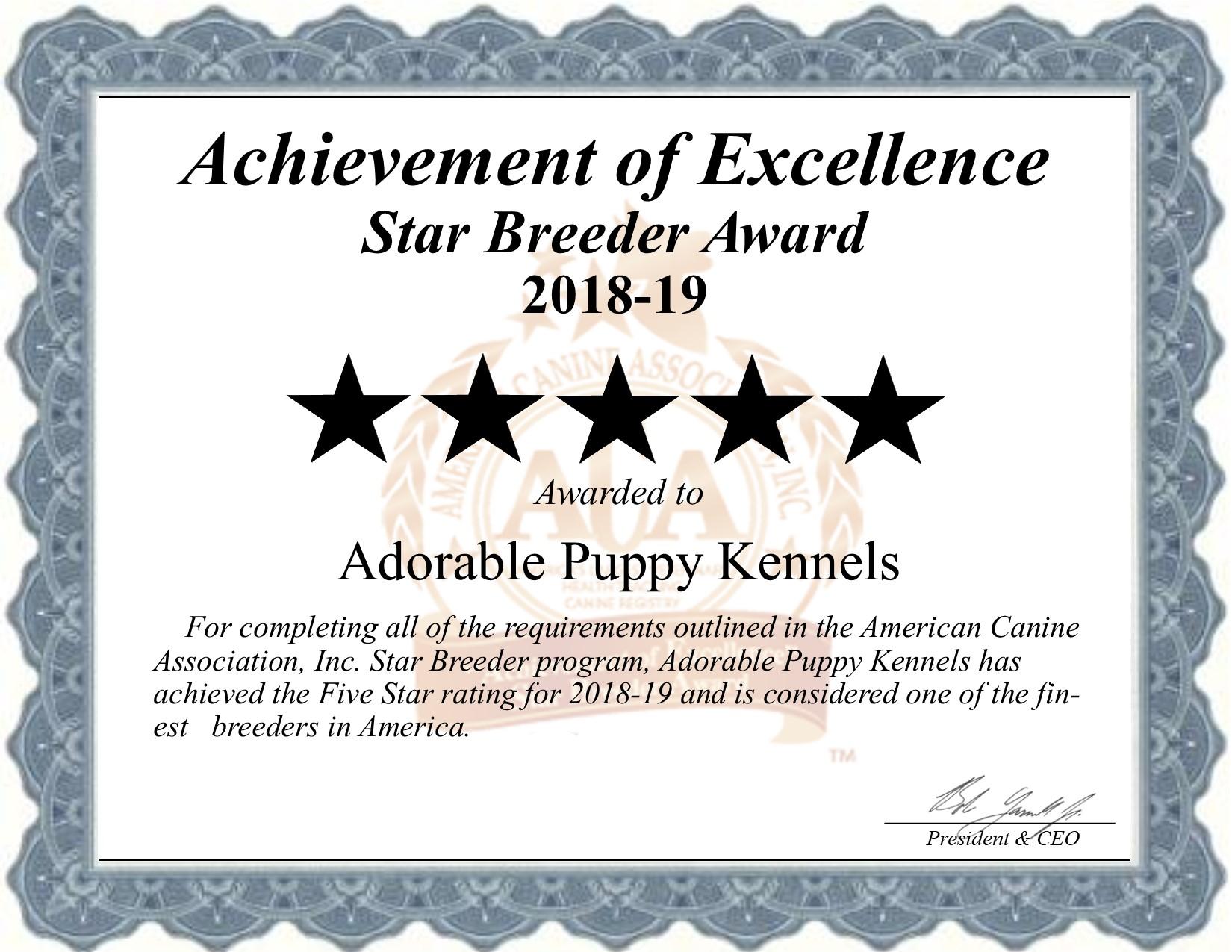 adorable, puppy, kennels, star, breeder, certificate, adorable-puppy, dog-breeder, kennel, reviews, customer, star, star-breeder, 5, five, USDA, rock, valley, ia, iowa  puppy, puppies, ACA, inspection, inspections, reports, mill, puppymill, mills;