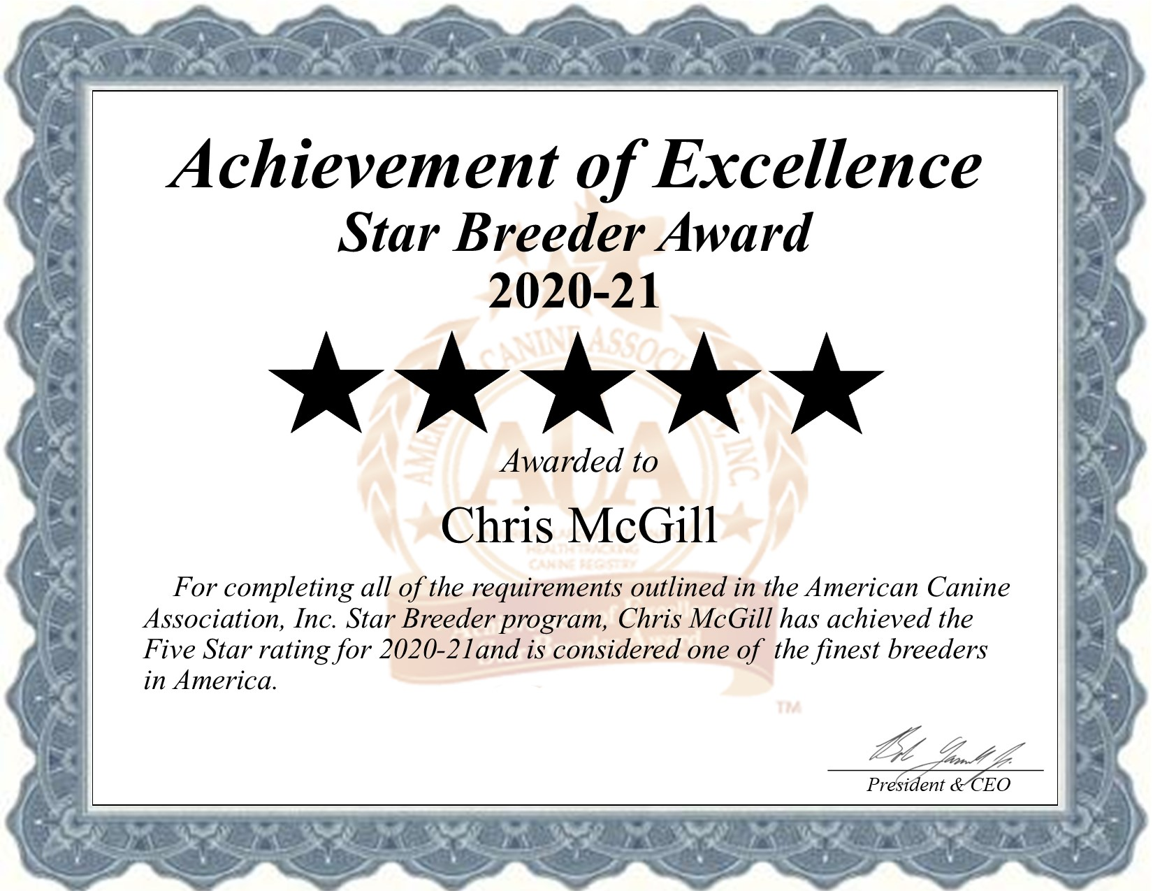Chris, McGill, dog, breeder, star, certificate, Chris-McGill, McAlester, OK, Oklahoma, puppy, dog, kennels, mill, puppymill, usda, 5-star, aca, ica, registered, Miniature-Pinscher, 73-A-1257