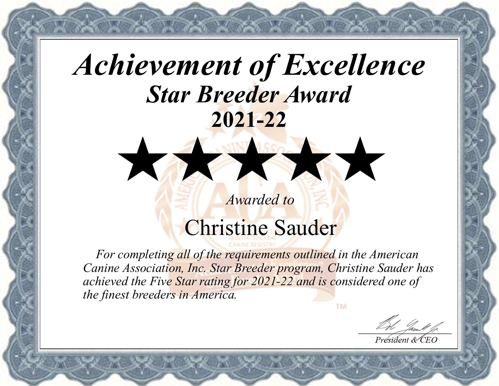 Christine, Sauder, dog, breeder, star, certificate, Christine-Sauder, Denver, PA, Pennsylvania, puppy, dog, kennels, mill, puppymill, usda, 5-star, aca, ica, registered, cocker, spaniel, maltese, 2021-22