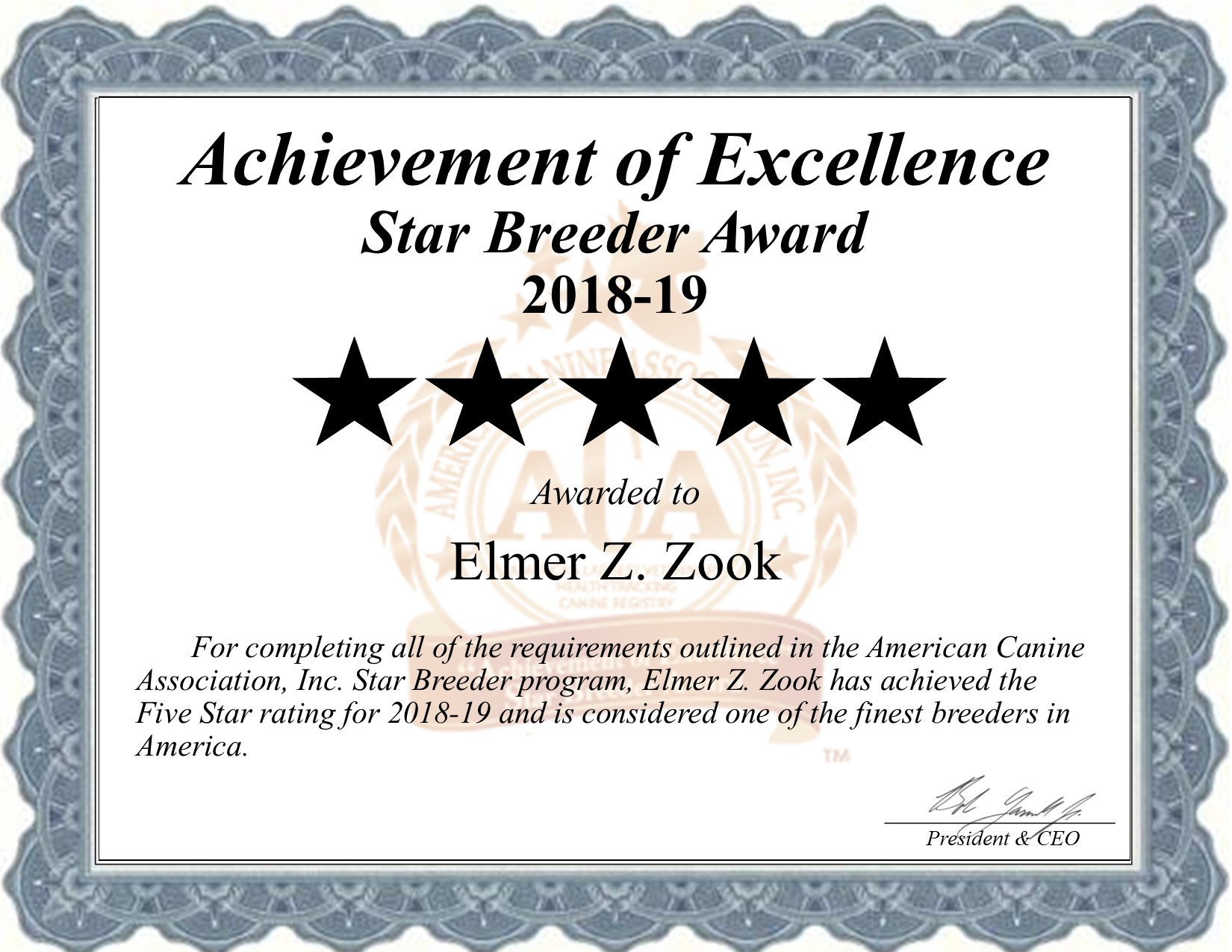 elmer, zook, z, dog. breeder, star, certificate, ephrata, pa, pennsylvania, elmer-zook, dog-breeder, puppy, dog, kennels, mill, puppymill, usda, 5-star, elmer-z-zook