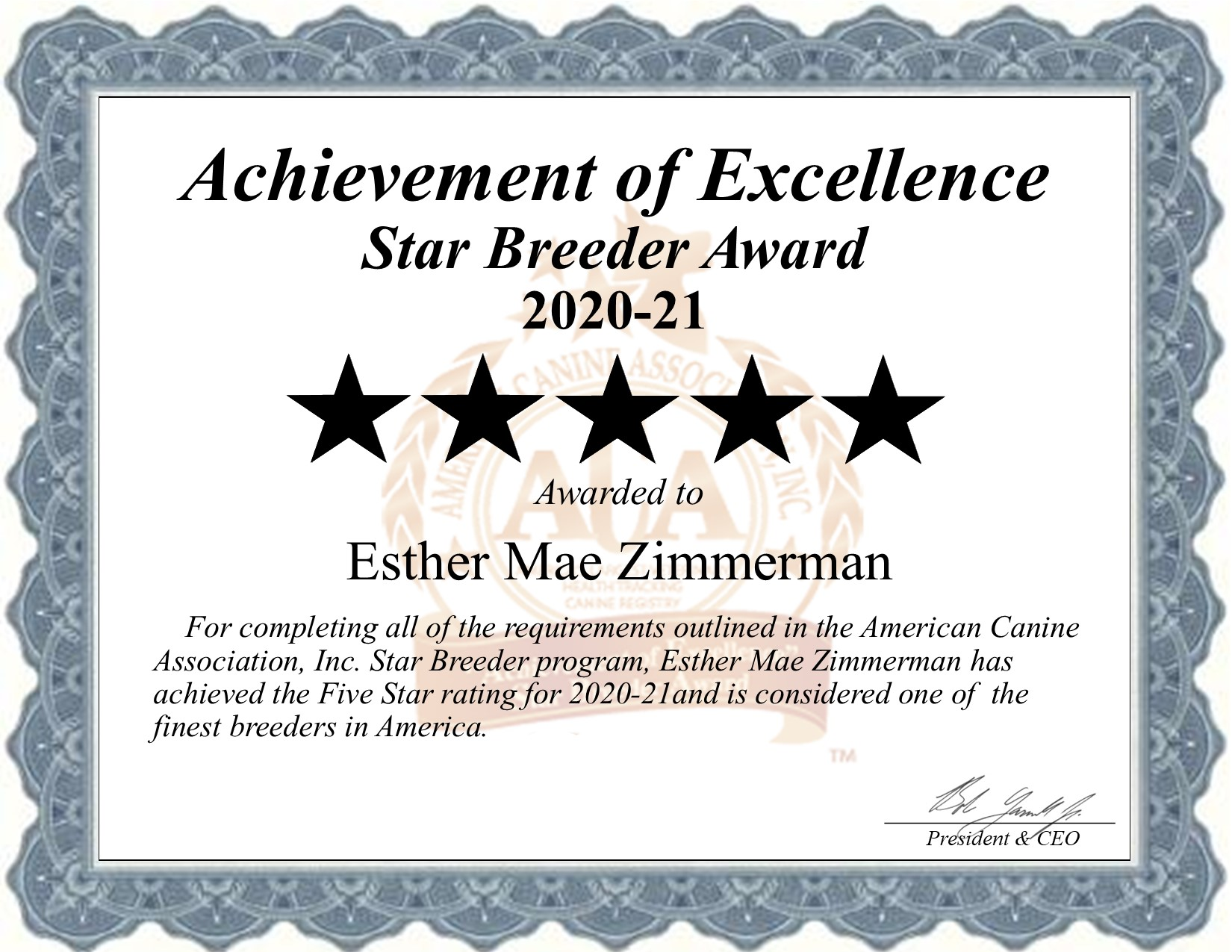 Esther Mae, Zimmerman, dog, breeder, star, certificate, Esther Mae-Zimmerman, East Earl, PA, Pennsylvania, puppy, dog, kennels, mill, puppymill, usda, 5-star, aca, ica, registered, Yorkshire-terrier, 23-A-0268