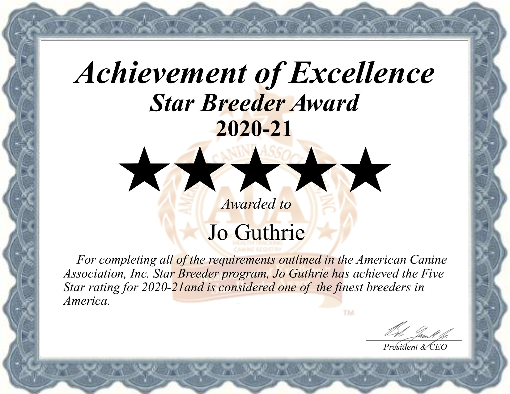 Jo, Guthrie, dog, breeder, star, certificate, Jo-Guthrie, Canton, TX, Texas, puppy, dog, kennels, mill, puppymill, usda, 5-star, aca, ica, registered, mini-daschund, dacshund, license, 112