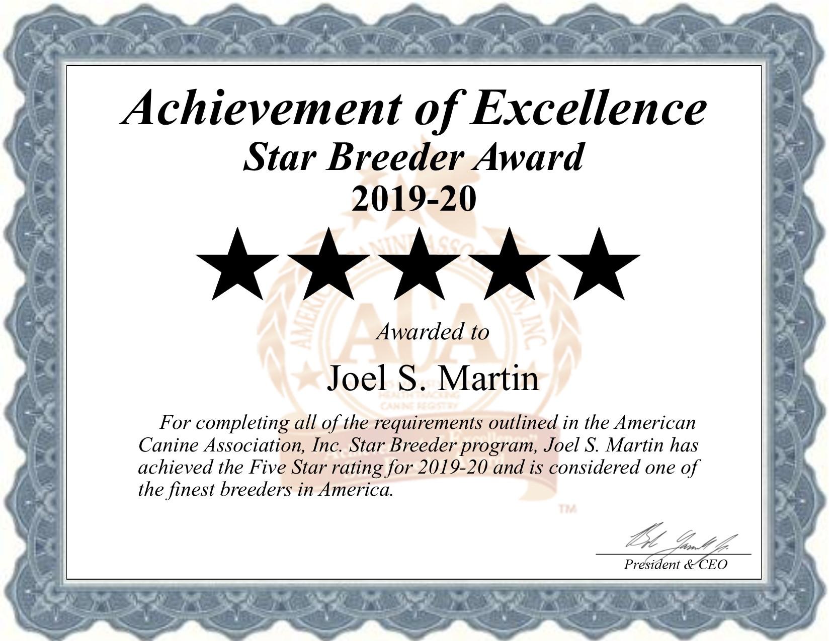 joel, s, martin, dog, breeder, certificate, el, dornado, springs, mo, missouri, joel-martin, dog-breeder, dogbreeder, kennel, reviews, customer, star, starbreeder, 5, five, USDA, puppy, puppies, ACA, inspection, inspections, reports, mill, puppymill, mills