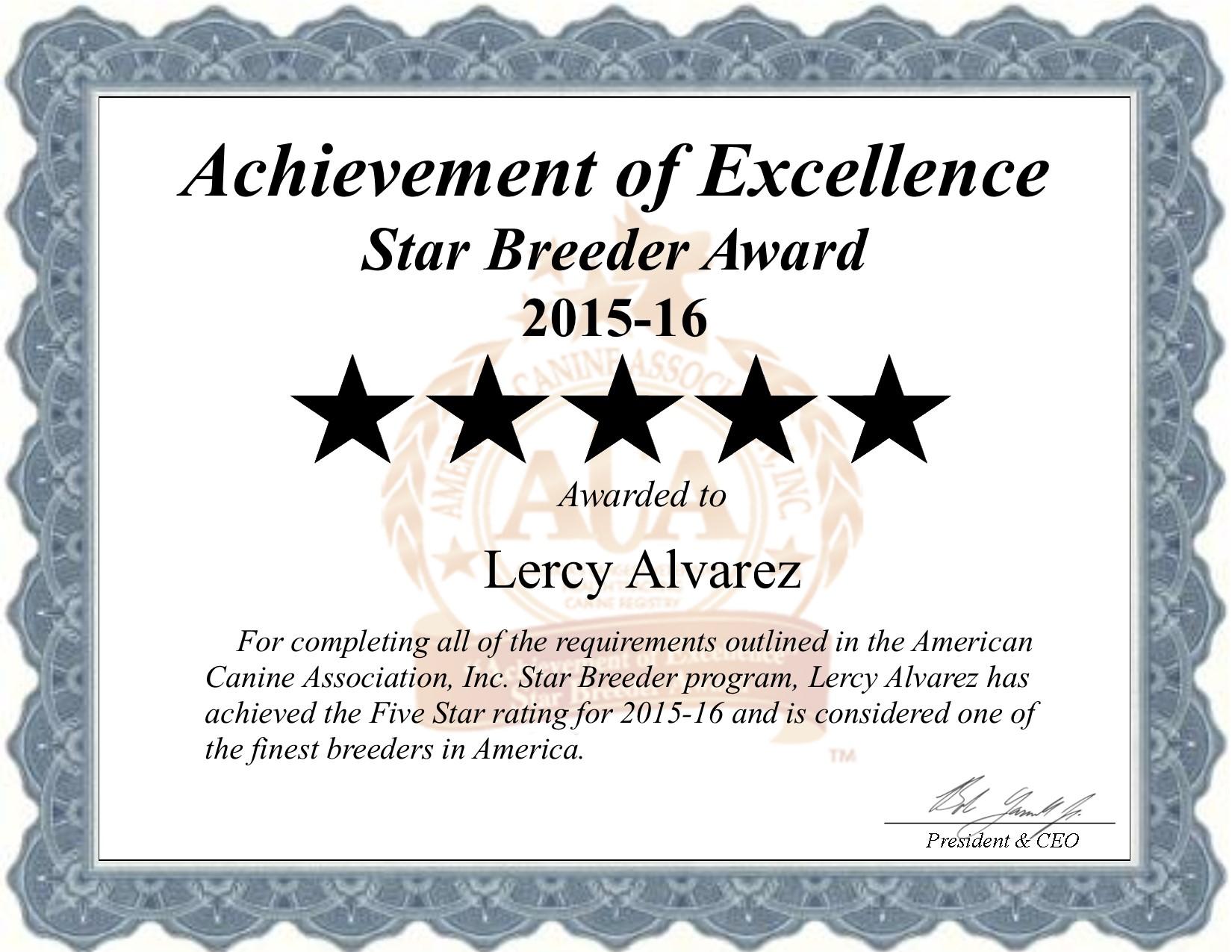 certificate, Lercy, Alvarez, dog, breeder, lercy-alvarez, dog-breeder, puppies, pups, fl, florida, judge, show,  kennels, kennel, professional, county, pure bred, purebred, five, 5, puppy, breeders, star breeder, 5 star, USDA, dog, puppy, puppies, ACA