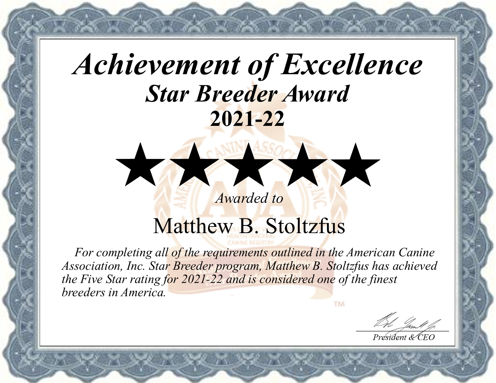 Matthew, Stoltzfus, dog, breeder, star, certificate, Matthew-Stoltzfus, Gap, PA, Pennsylvania, puppy, dog, kennels, mill, puppymill, usda, 5-star, aca, ica, registered, bernadoodle
