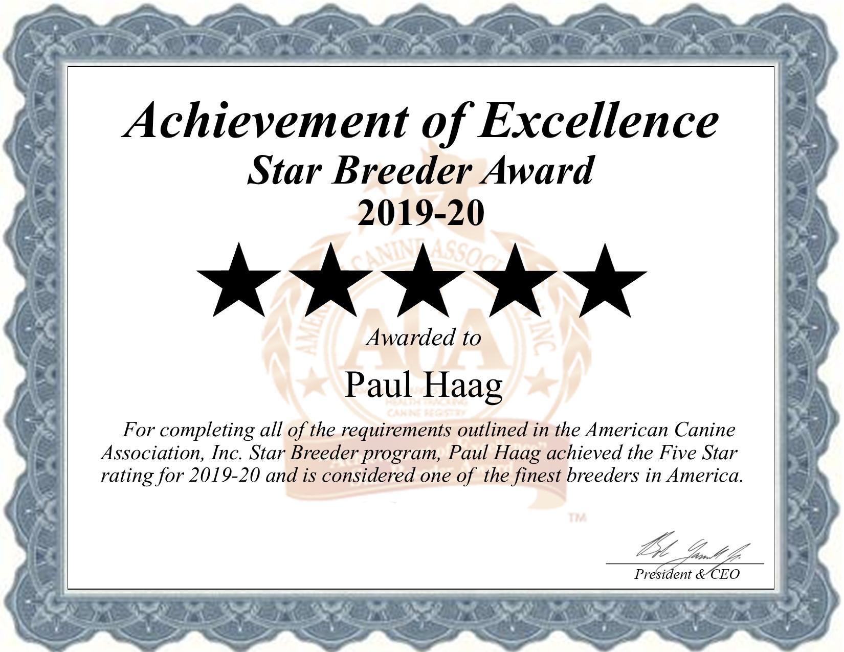 Paul, Haag, dog, breeder, star, certificate, Paul-Haag, eden, valley, MN, Minnesota, puppy, dog, kennels, mill, puppymill, usda, 5-star, ACA, ICA, registered, show handler, yorkie, MNPBA, puppies