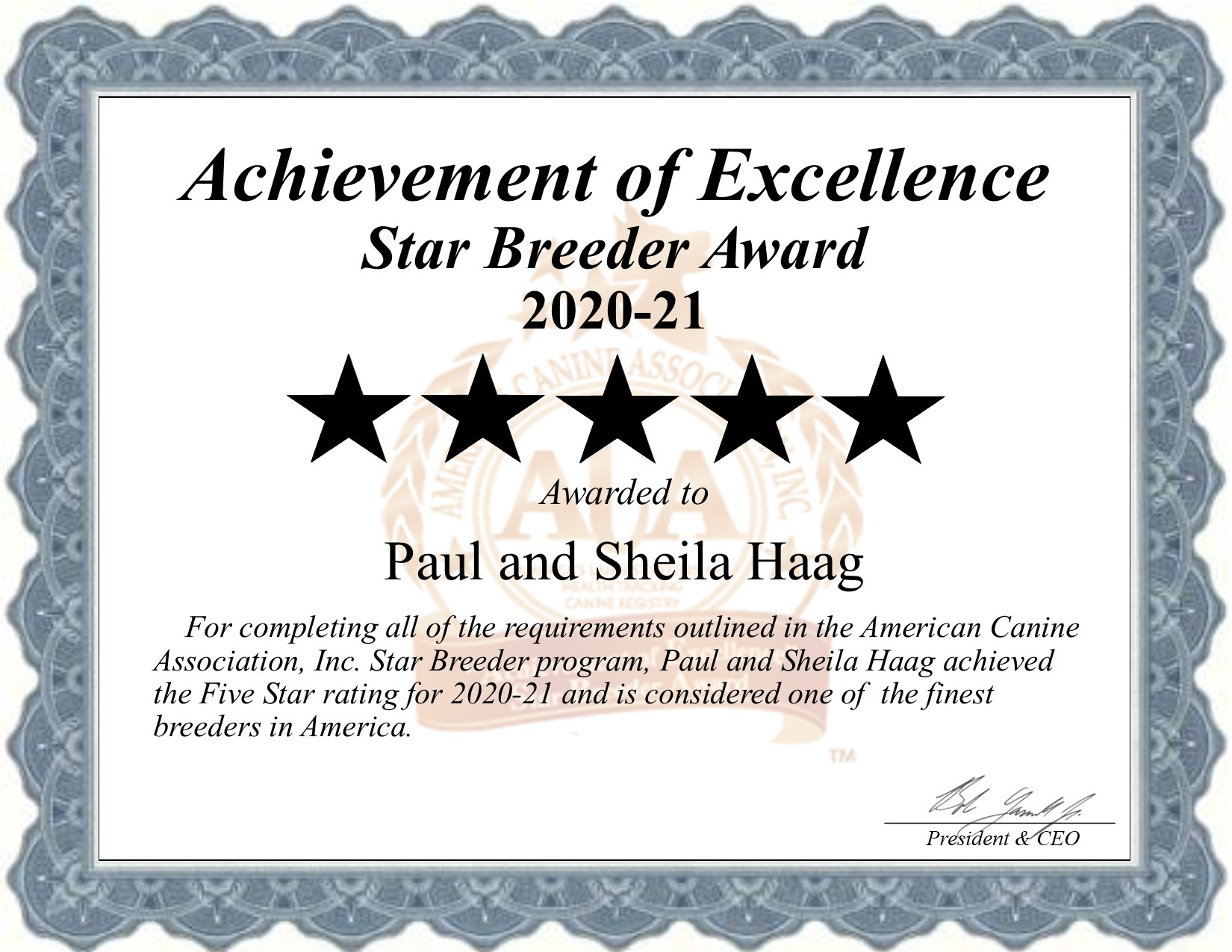 paul-sheila, haag, dog, breeder, certificate, paul-sheila-haag, aca-logo, valley-view, dog_breeder, puppies, pups, eden-valley, mn, minnesota, 41A0281, usda, number, no, 41-A-0281, show, kennels, kennel, professional, county, pure bred, purebred, five, 5, puppy, breeders, star breeder, 5 star, USDA, dog, puppy, puppies, ACA, ICA;