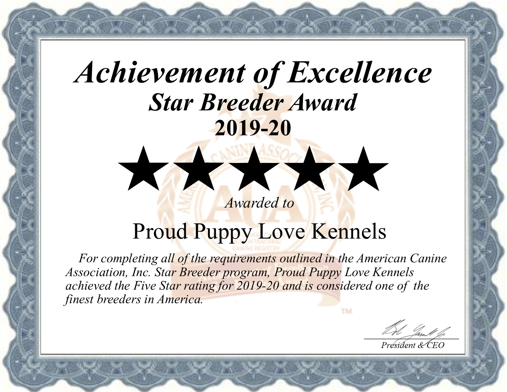 proud, puppy, love, kennels, certificate, dog. breeder, star, kim-dildine, proud-puppy-love, dog-breeder, willow, springs, mo, missouri, puppy, dog, kennels, mill, puppymill, usda, 5-star, certificate