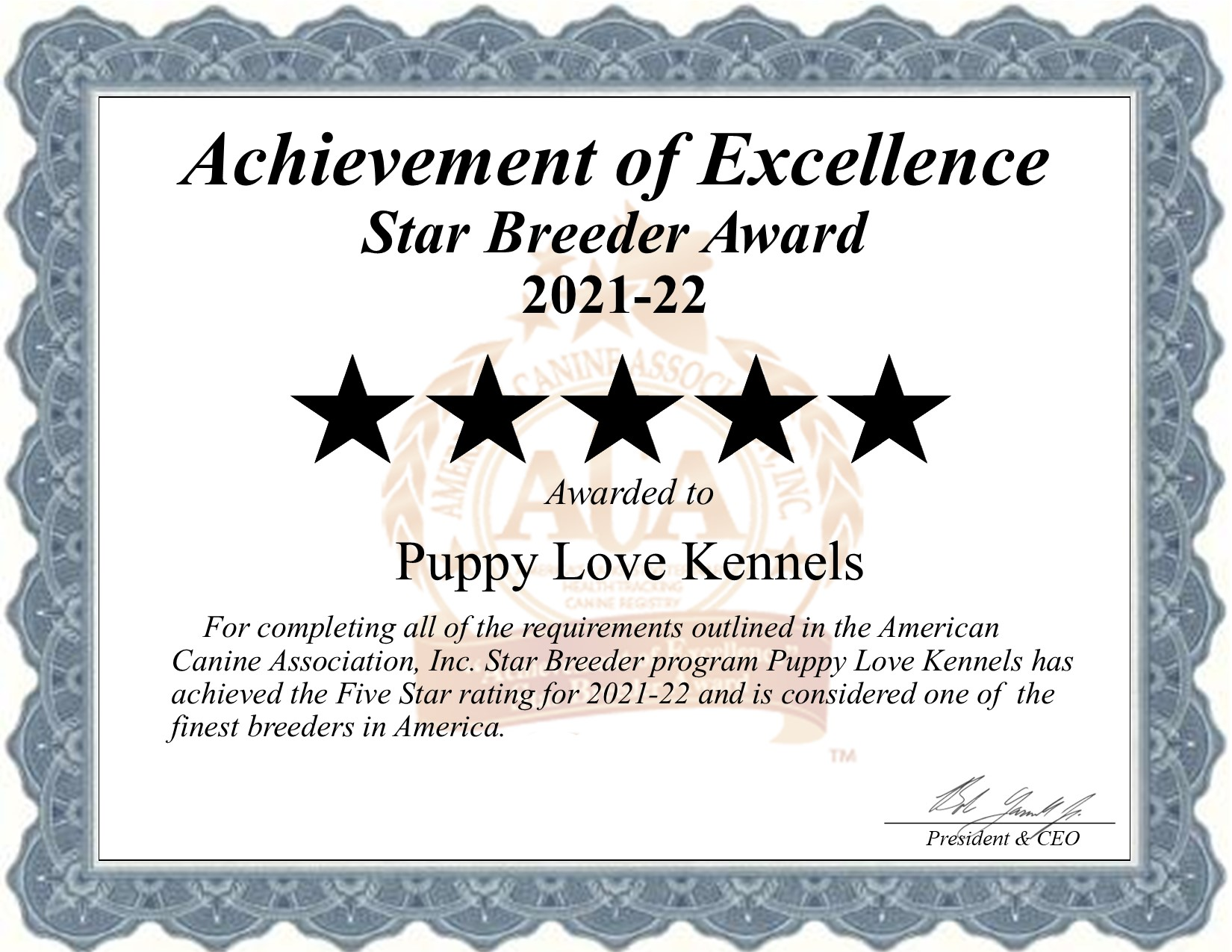 Puppy Love, Kennels, dog, breeder, star, certificate, Puppy Love-Kennels, Trenton, MO, Missouri, puppy, dog, kennels, mill, puppymill, usda, 5-star, aca, ica, registered, cocker-spaniel, cokapoo, 43-A-6314, 43A6314