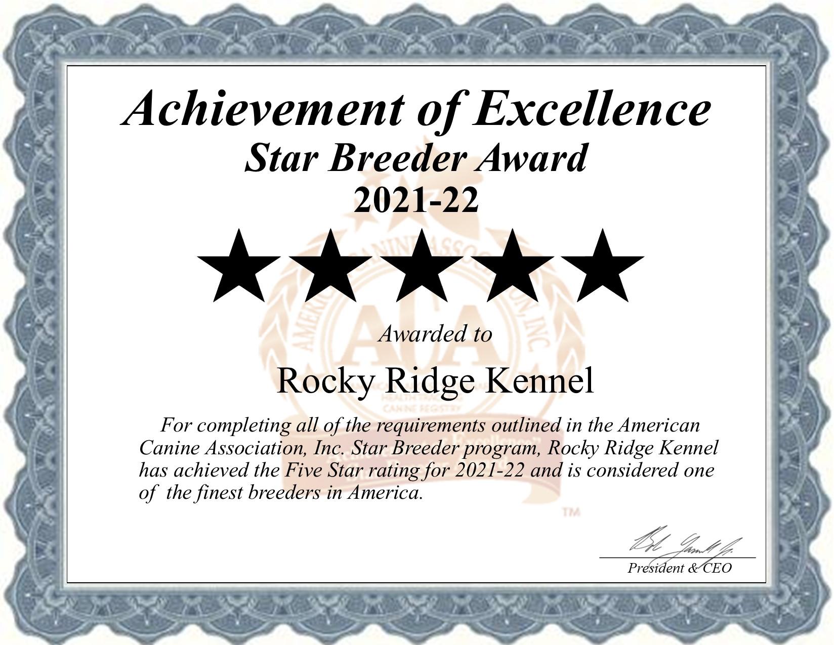 Rocky, Ridge, dog, breeder, star, certificate, Rocky-Ridge, Denver, PA, Pennsylvania, puppy, dog, kennels, mill, puppymill, usda, 5-star, aca, ica, registered, cocker, spaniel, maltese, 2021-22