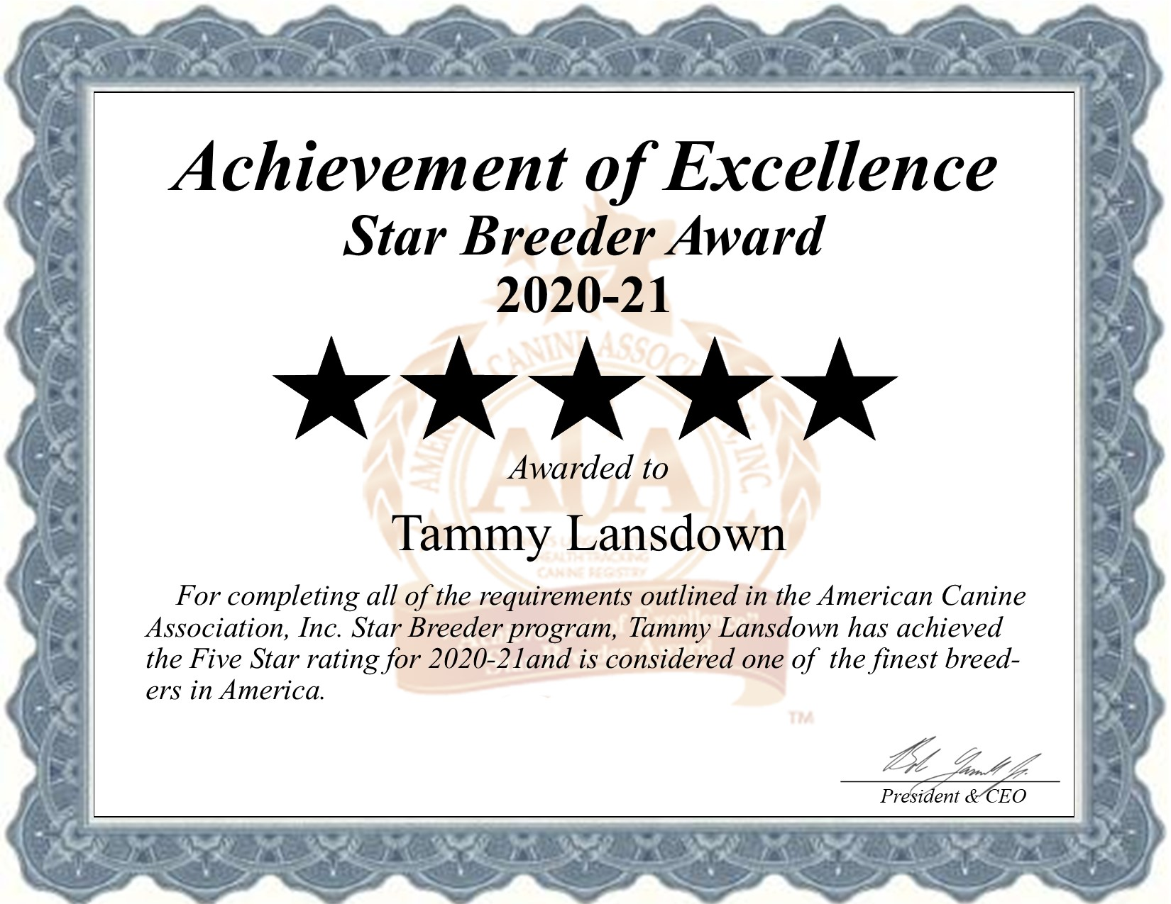 Tammy, Lansdown, dog, breeder, star, certificate, Tammy-Lansdown, Seymour, MO, Missouri, puppy, dog, kennels, mill, puppymill, usda, 5-star, aca, ica, registered, Maltese, 43-A-1268