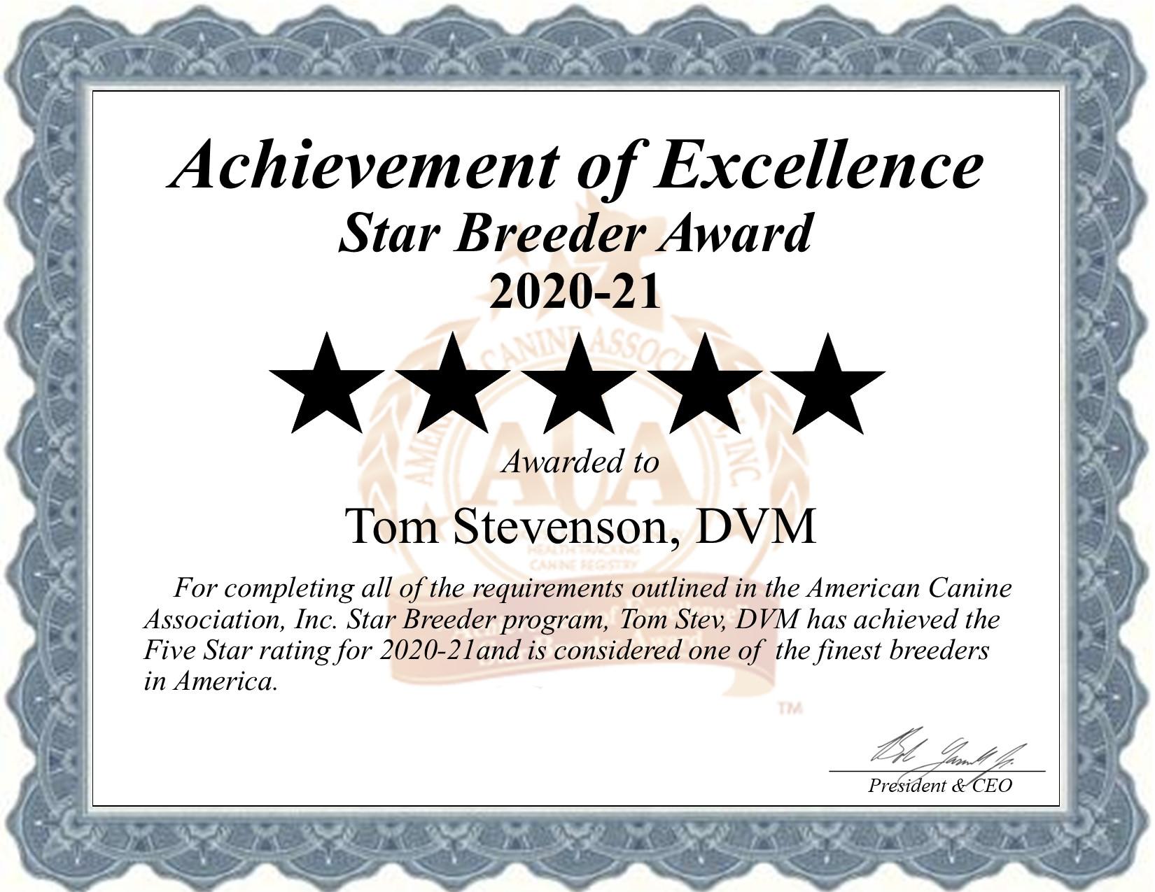 Tom, Stevenson, DVM, dog, breeder, star, certificate, Tom-Stevenson, DVM, Moscow, ID, Idaho, puppy, dog, kennels, mill, puppymill, usda, 5-star, aca, ica, registered, italian, greyhound