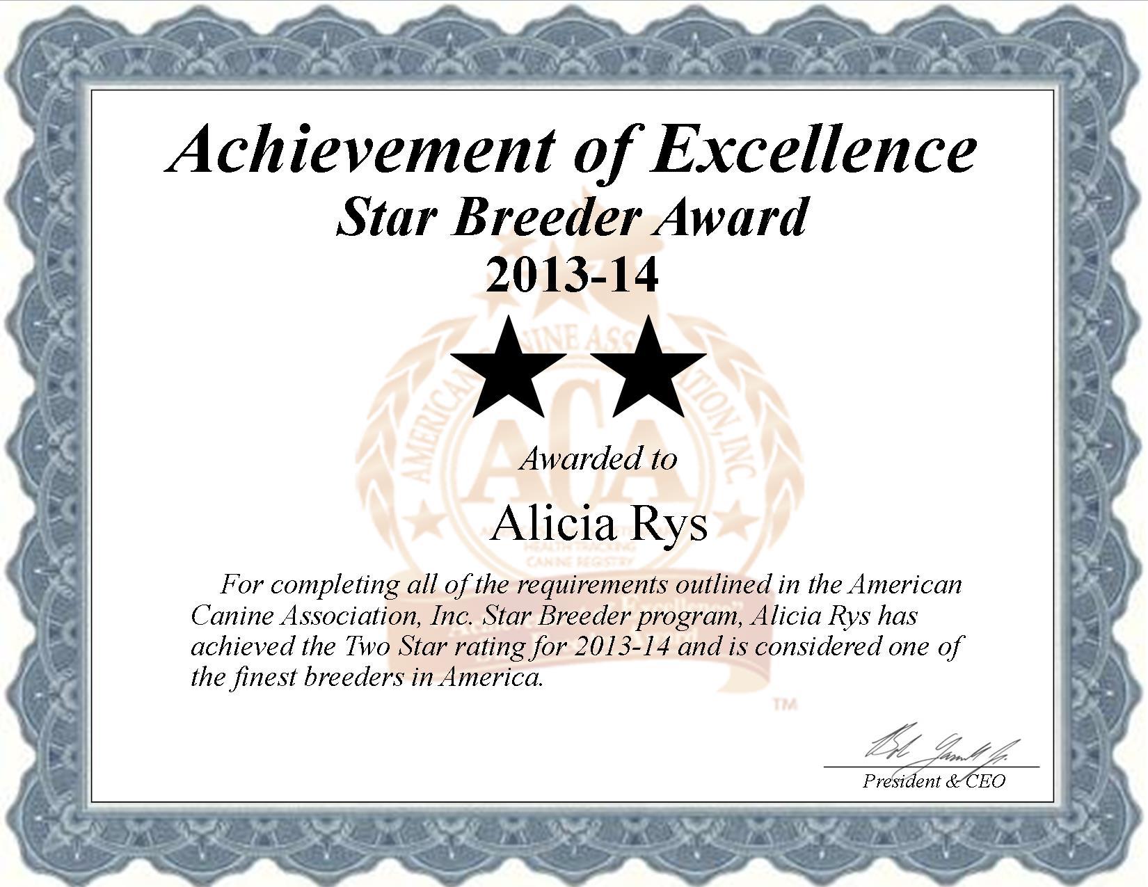 Alicia Rys, Rys High's Kennel, breeder, star breeder, aca, star breeder, 2 star, Pattonsburg, Missouri, Mo, dog, puppy, puppies, dog breeder, dog breeders, Missouri breeder, Alicia Rys dog breeder