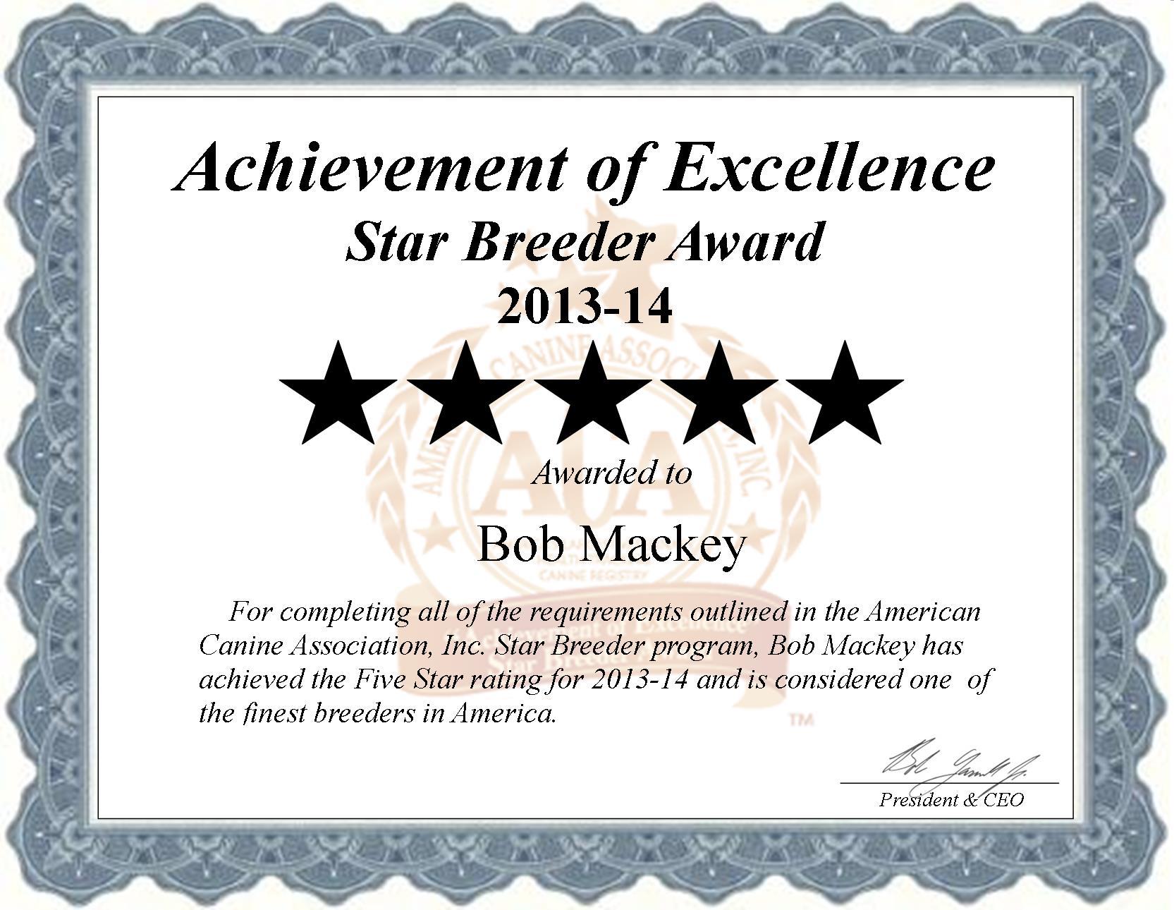 Bob Mackey, Mackey Kennel, Mackey do breeder, star breeder, aca, star breeder, 5 star, Sayre, Oklahoma, OK, dog, puppy, puppies, dog breeder, dog breeders, Oklahoma breeder, Bob Mackey dog breeder