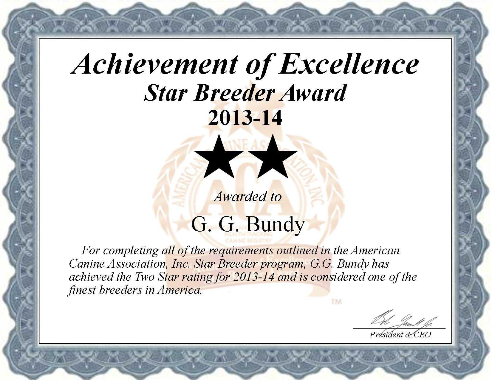 GG, Bundy, GG Bundy, Bundy Kennel, breeder, star breeder, aca, star breeder, 2 star, shell knob, shellknob, Missouri, MO, dog, puppy, puppies