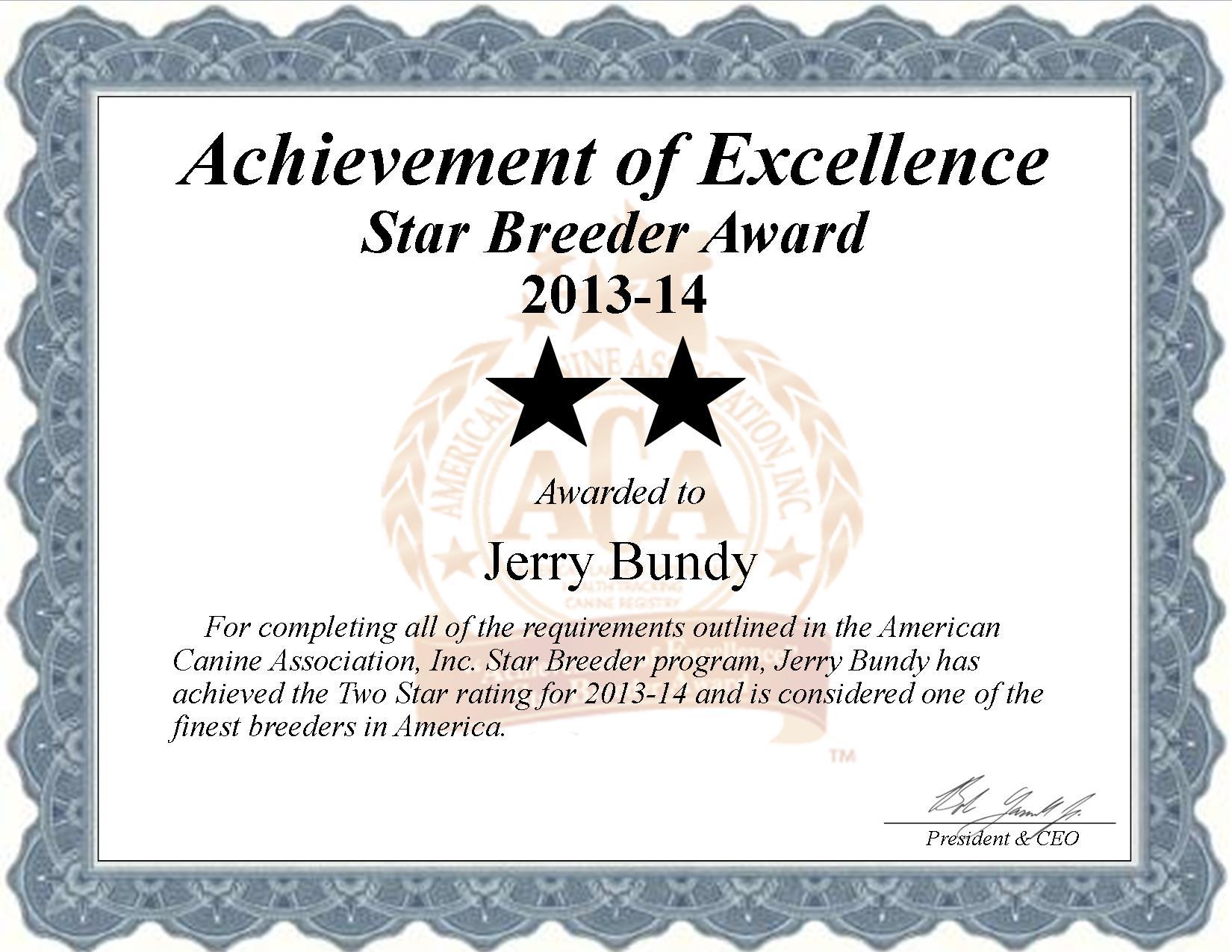 Jerry, Bundy, Jerry Bundy, Bundy Kennel, breeder, star breeder, aca, star breeder, 2 star, shell knob, shellknob, Missouri, MO, dog, puppy, puppies