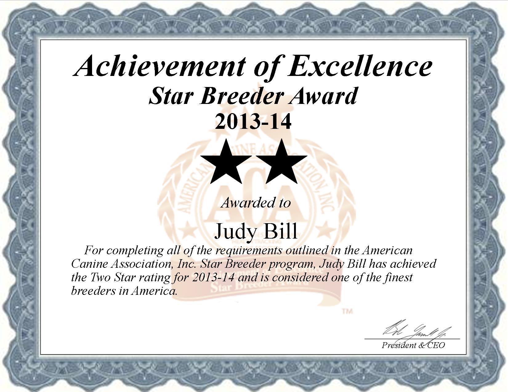 Judy Bill, Judy, Bill, Bill kennel, Judy Bill breeder, Antlers, OK, Oklahoma, Antlers OK, breeder, star breeder, 5 star breeders,  starbreeder, starbreeders, 2 star, dog,  puppy, puppies