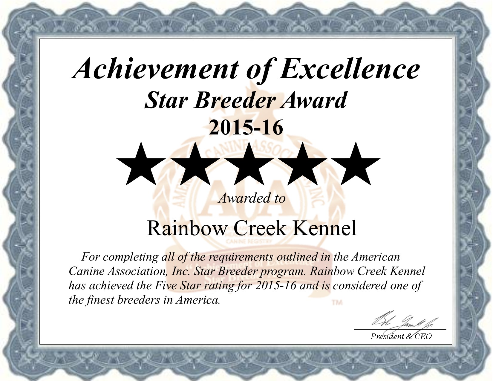 Rainbow, Creek, Kennel, Rainbow-Creek, rainbow_creek_kennel, rainbowcreek, lyon, ny, new york, breeder, dog, star star-breeder, starbreeder, 5 star, dogs, puppy, puppies, five star, kennels, ACA, American, canine, association, dogshow, shows, handler, new, york, new-york, puppymill, mill, commercial, professional