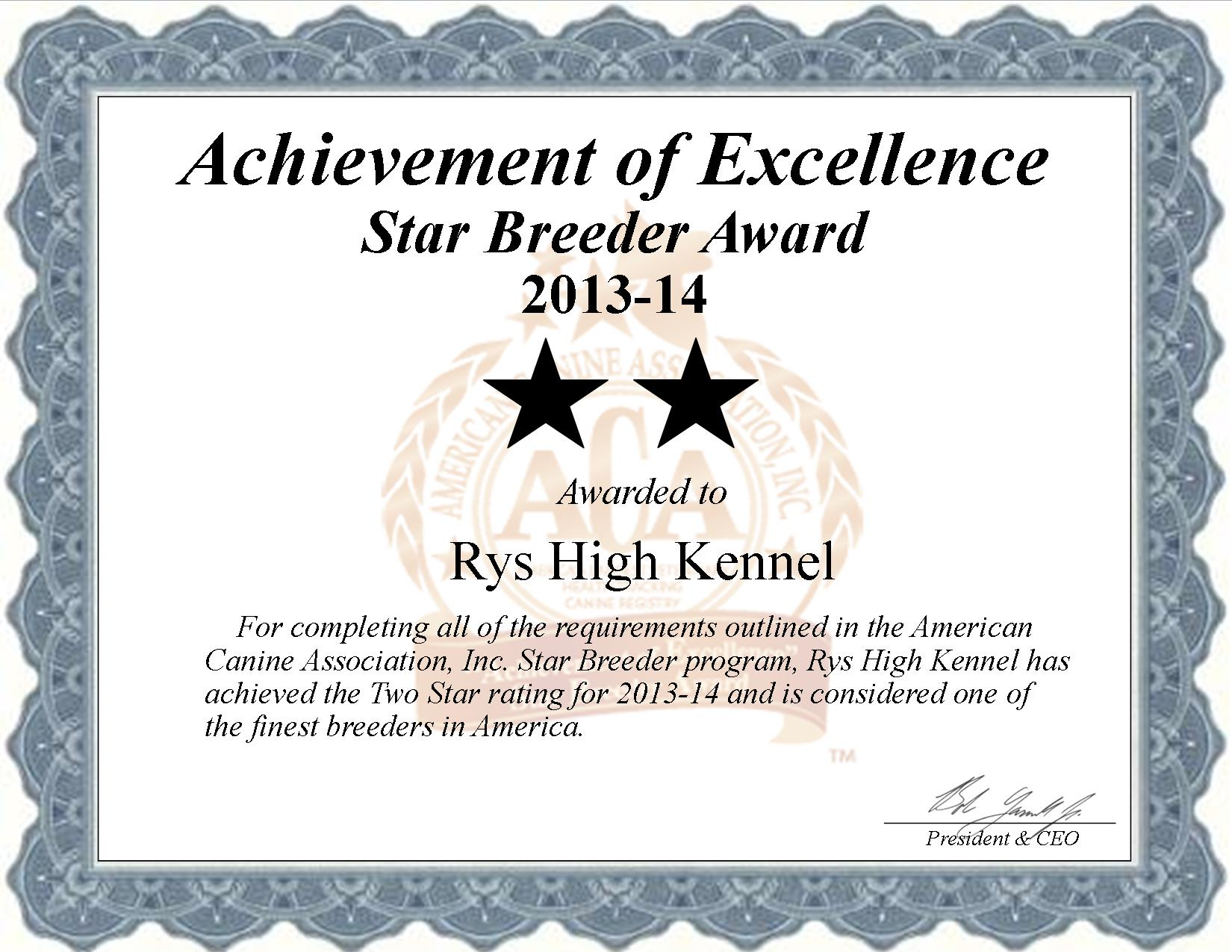 Rys High Kennel, Rys High's Kennel, breeder, star breeder, aca, star breeder, 2 star, Pattonsburg, Missouri, Mo, dog, puppy, puppies, dog breeder, dog breeders, Missouri breeder, Rys High Kennel dog breeder