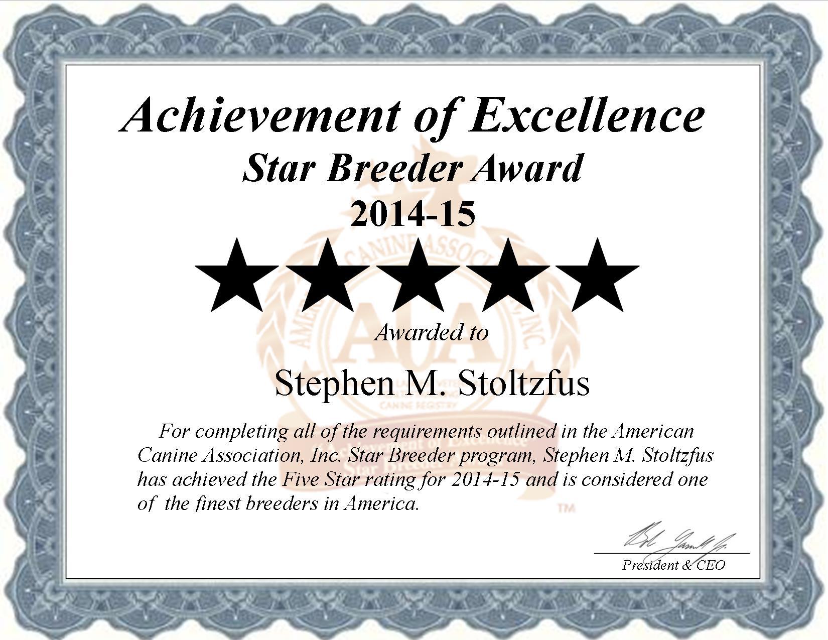 Steve M. Stoltzfus, Fox Kennel, Fox do breeder, star breeder, aca, star breeder, 5 star, Gap, Pennsylvania, PA, dog, puppy, puppies, dog breeder, dog breeders, Pennsylvania breeder, Steve M. Stoltzfus dog breeder