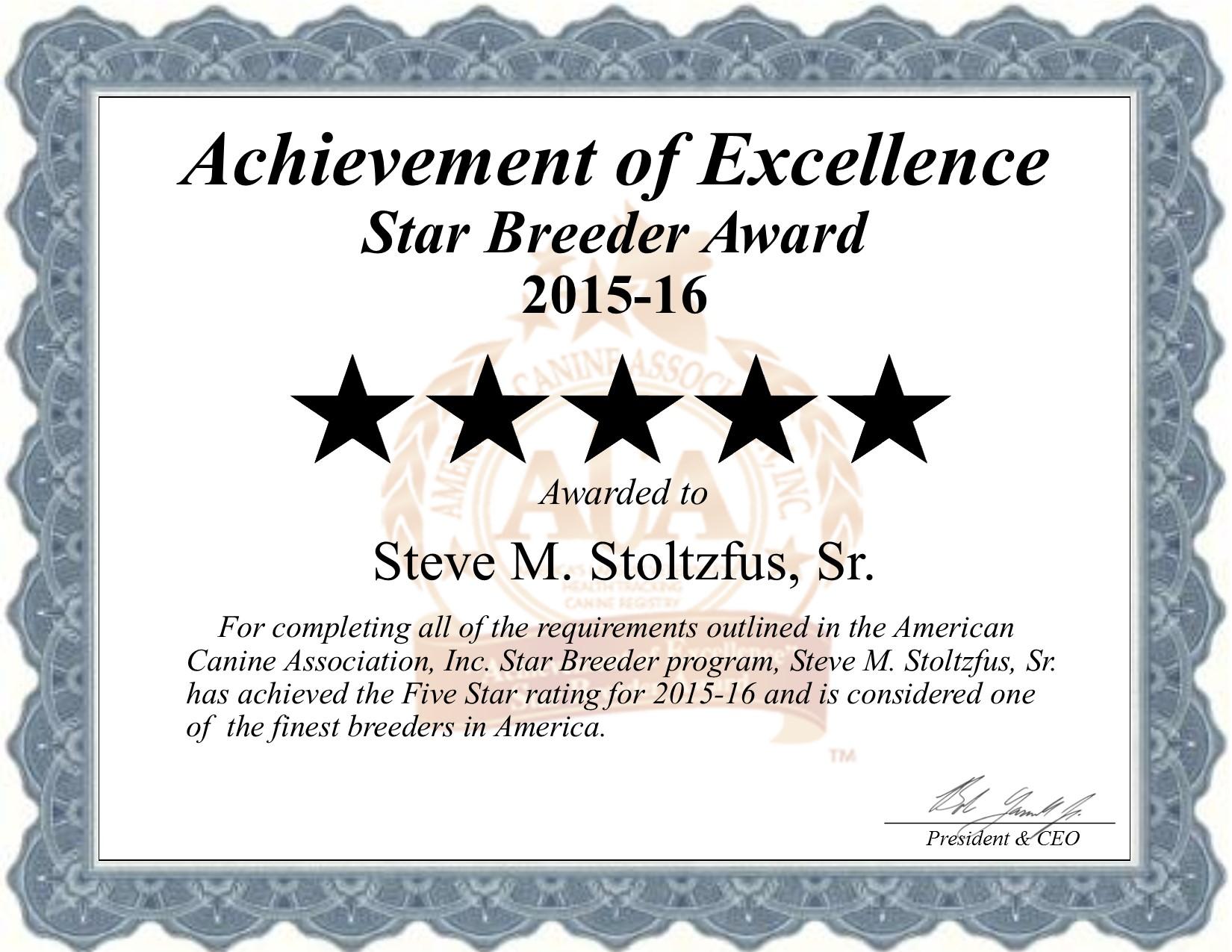 Steve, Stoltzfus, Steve Stoltzfus, Stoltzfus Kennel, breeder, star breeder, aca, star breeder, 5 star, Pennsylvania, pa, dog, puppy, puppies, dog breeder, dog breeders, pennsylvania breeder, Steve Stoltzfus dog breeder